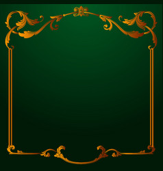 classical baroque of vintage element vector image