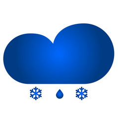 cloud and snow with rain icon vector image