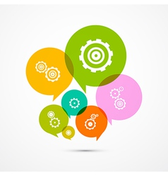 Cogs - Gears Colorful Circle Icons Set Isolated on vector image