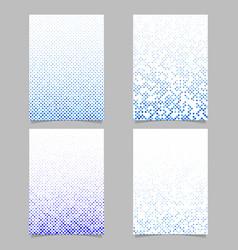color dot pattern flyer design set - document vector image