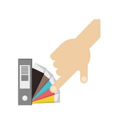 color guide palette picker vector image