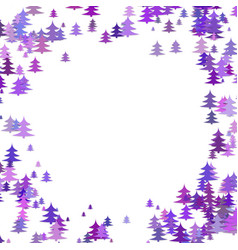 color pine tree forest round frame design vector image