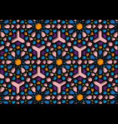 colorful islamic pattern graphic persian motif vector image