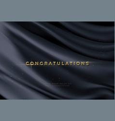 Congratulations golden award on black silk vector