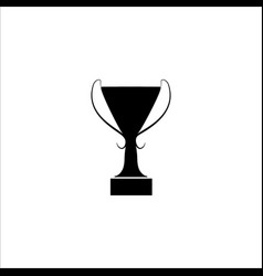 cup award sign modern symbol of victory award vector image
