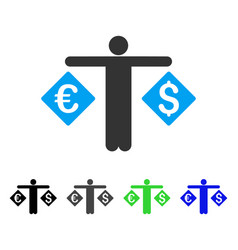 Currency trader flat icon vector