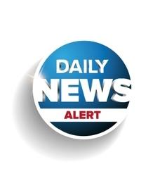 Daily news alert vector