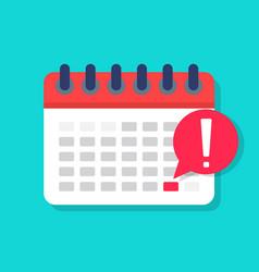 Deadline on calendar date appointment agenda vector