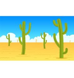 Desert cartoon landscape vector