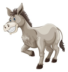 Donkey with silly face vector