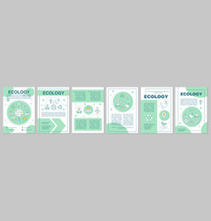 ecology brochure template layout vector image