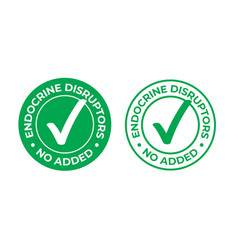Endocrine disruptors no added green check mark vector