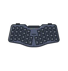ergonomic custom keyboard vector image