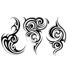 Ethnic tattoo set vector