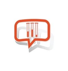 Experiment message sticker orange vector image