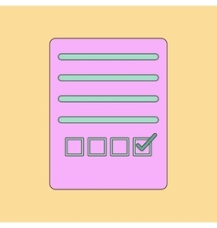flat icon thin lines questionnaire vector image