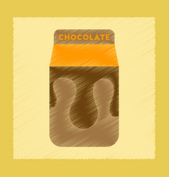 Flat shading style icon chocolate package vector