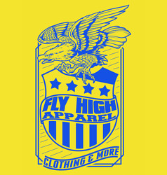fly high apparel vector image