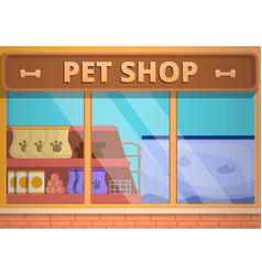 glass pet shop concept banner cartoon style vector image