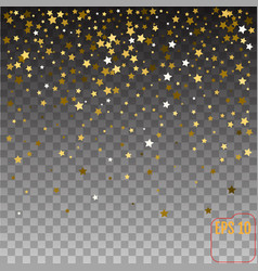 gold stars holiday background falling golden vector image
