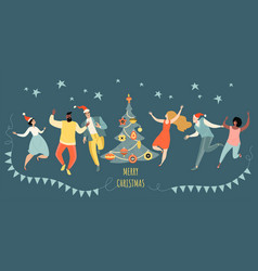 Greeting banner for christmas vector