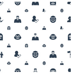 Guy icons pattern seamless white background vector