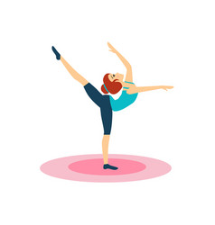 gymnastics daily routine activities women vector image