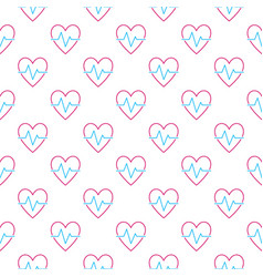 Heartbeat pattern cardiac cycle seamless vector