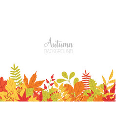 horizontal banner with various colorful autumn vector image