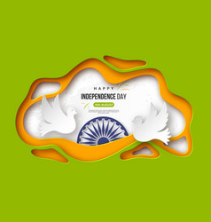 Indian independence day holiday background paper vector