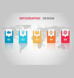 infographic design template with reflect vector image