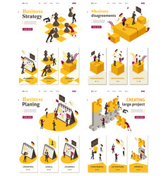 Isometric business solution vector