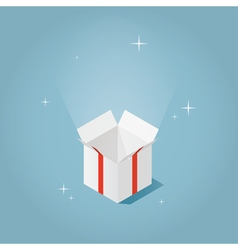 Isometric magic opened box vector image