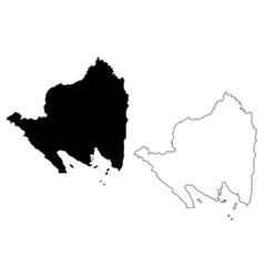 Lampung map vector