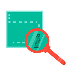 Leaning tower of pisa with tickets vector