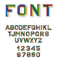 linear font 80 s retro alphabet font vector image