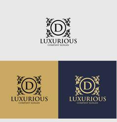 luxury crest decorative logo vector image