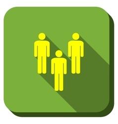 Men Community Longshadow Icon vector