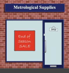 metrological supplies vector image