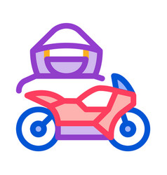 motorcycle transport driver icon outline vector image