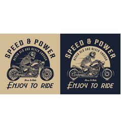 motorcycle vintage logotype vector image