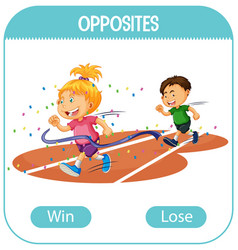 Opposite words with win and lose vector