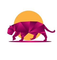 Origami jaguar2 vector image