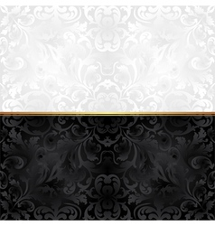 ornate background black and white vector image