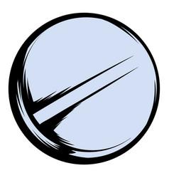 Pill icon cartoon vector