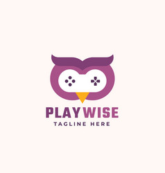 Play wise abstract sign symbol or logo vector