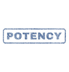 Potency textile stamp vector