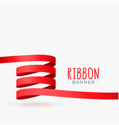 red ribbon loop banner design vector image