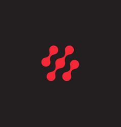 Scientific innovation logo molecules connections vector