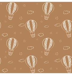 Seamless design of floating balloons vector image